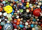 MIXED ASSORTMENT Game Marbles shooter red blue yellow orange glass swirl lot