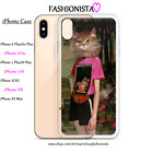 GUCCI CAT Illustration iPhone 6 7 8 X XS XR 7+ Case Fashion Art BLIND FOR LOVE