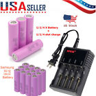 Lot Samsung 18650 30Q 3000mAh High Drain Rechargeable Vape Battery & Charger