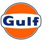 Gulf 2 Pack Vintage Style Vinyl Decal Sticker - You Choose Size - Free Shipping