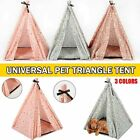 DIY Foldable House Pet Triangle Tent Indoor Outdoor Dog Cat Cozy Cave Kennel New