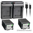 Kastar Battery Dual Charger for Canon BP-820 BP-828 & Canon VIXIA HF G60 Camera