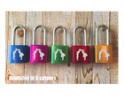 Personalised Engraved Love Padlock - 5 colours - Add your message - 2 Keys