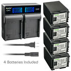 Kastar Battery LCD Rapid Charger for Canon BP-827 BP819 BP-808 & Canon CG-800