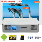 New Mini 1080P Smart  Projector Home Theater WiFi Bluetooth 4.0 For Android 7.1