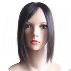 US-Hand-made mono 100% Human Hair Topper Hairpiece Toupee Top Piece For Women