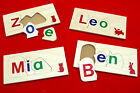 Children's NAME JIGSAW PUZZLE 3-6 LETTER personalised LEARN TO SPELL wooden toy