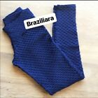 AUTHENTIC Brazilian Fitness Leggings Honeycomb Gym Supplex Brazil Regular