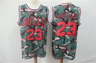 New Chicago Bulls #23 Michael Jordan Retro Basketball Jersey camouflage on eBay