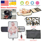 Baby Portable Folding Diaper Changing Pad Travel Can Waterproof Foldable Mat Bag