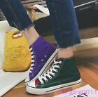 Mens Womens Flats Board Shoes Round Toe Multi Colour High Top Fashion Sneakers