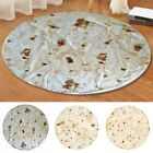Burrito Tortilla Round Rectangle Area Rug Soft Flannel AntiSlip Floor Mat Carpet image