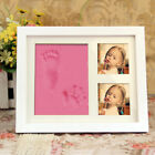Newborn Hand and Foot Print Imprint Cast Kit Photo Frame New Baby Shower Gift