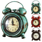 Industrial Retro 9inch Round Metal Wall Clock Time Watch Ornament Decoration