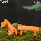 Fairy Garden Decor Micro Landscapes Miniature Bench Stools Park Chair Figurines