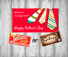 Personalised Fathers Day Chocolate Bar - Wrapper & Chocolate - Add message