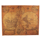 Vintage Retro World Map Kraft Paper Poster Nautical Chart for Home Cafe