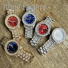 Men's Iced out Rapper's Lab Diamond Metal Band Dress Clubbing wrist Luxury Watch image