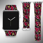 Arizona Cardinals Apple Watch Band 38 40 42 44 mm Fabric Leather Strap 1 on eBay