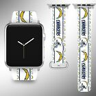 Los Angeles Chargers Apple Watch Band 38 40 42 44 mm Fabric Leather Strap 1 $29.97 USD on eBay