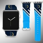 Los Angeles Chargers Apple Watch Band 38 40 42 44 mm Fabric Leather Strap 2 $29.97 USD on eBay
