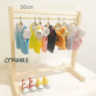Wood Coat Clothes Hanger Rack Kits Fit for 15cm 20cm Doll Accessory Star Doll Sa
