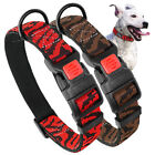 Small Large Dog Collars Soft Nylon Padded Adjustable Lockable Red Brown S M L