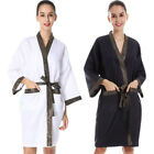 Hot Women Barber Coat Long Sleeve Robe With Pockets Hair Salon Dressing Gown
