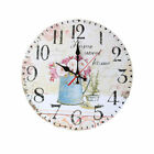 Large Indoor Outdoor Wooden Decorative Rustic Vintage Country Wall Clocks 12''