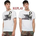 "T-shirt uomo REPLAY maglietta bikers ""hall of fame"" gomma chiodata tshirt  M3733"