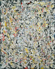 Jackson Pollock - White Light HD Print on Canvas Large Wall Picture 22x27""