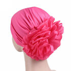 Women Indian Turban Hat Head Wrap Stretchable Chemo Cancer Pleated Hijab Cap