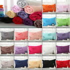 100 Cotton Pillow Cases 1PC/2Pcs Covers Pillowcases Standard All Size