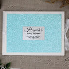 Baby Shower Guest Book - Blue Pebble - Personalised Custom Guest Book
