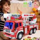 Giant Rescue Fire Engine Truck Toy With Light Sound 1:16 Fire&safety Cars Gift