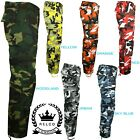 Relco Mens Womens Army Combat Cargo Camouflage Camo Military Work Trousers Pants