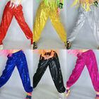 Ladies Street Dance Sequin Pants Jazz Shiny Hip Hop Trousers Party Wear Costumes