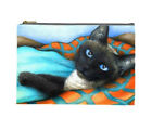 Cosmetic bag, Pouch, Purse Accessory, Cat 634 Siamese art painting by LDumas
