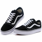 Classic Old Skool Skate Shoes Canvas Sneakers Black/White All Size UK3-UK9.5