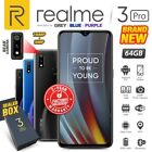 New  Sealed Factory Unlocked REALME 3 Pro Grey Blue Purple 64GB Android Phone
