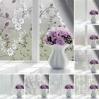 Flowers Door Frosted Opaque Window Film Glass Sticker Grille Privacy Adhesive