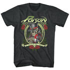 In Poison We Trust Men's T Shirt Skeleton Top Hat Rock Band Album Concert Merch image