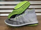 Nike Flyknit Elite Golf Shoes Light Grey Volt Black SZ ( 844450-002 )