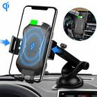 Qi Wireless Car Phone Charger Mount Stand for Samsung S8/S9 Note 8 9 iPhone X XS