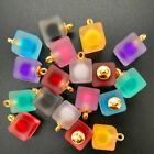 NEW 8PCS 16MM Mini Acrylic Frosted Square Beads Charm Pendant Ornaments Jewelry