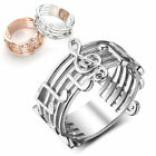Platinum Plated Decorative Ring Musical Note Pattern Finger Ring for Women Lover image