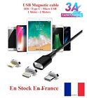 Cable USB 3A chargeur rapide magnétique charger magnetic 3A micro USB IOS...