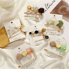 3Pcs Women Pearl Plastic Hair Clips Snap Barrette Stick Hairpin Hair Accessories image