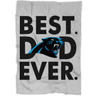 Carolina Panthers Best Dad Ever Blanket, I Love My Dad Blanket, Father's Day on eBay