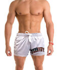 Men's US Flag Vermont Gray Mesh Shorts America July 4 Patriotic State Home B1582